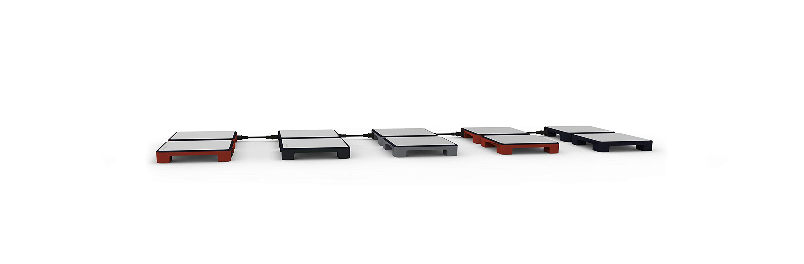 Modular Electric Warming Trays | Folding Trays, Temperature Adjustable, Heated Plates for Easy Serving in Events, Home Parties | Connect Up to 5 Units (5 PACK - 10 Heating Surfaces) (Grey) by homeart