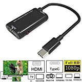 USHOT, Type-C USB3.1 Male to 1080P HDMI Female Video Adapter Converter Cable for HDTV EWF384Y