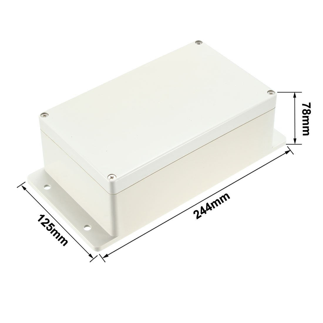 uxcell 136x72x54mm Electronic Waterproof IP65 Sealed ABS Plastic DIY Junction Box Enclosure Case Clear a18051700ux0356