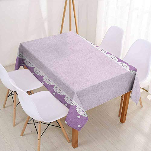ScottDecor Printed Tablecloth Wrinkle Free Tablecloths W 54