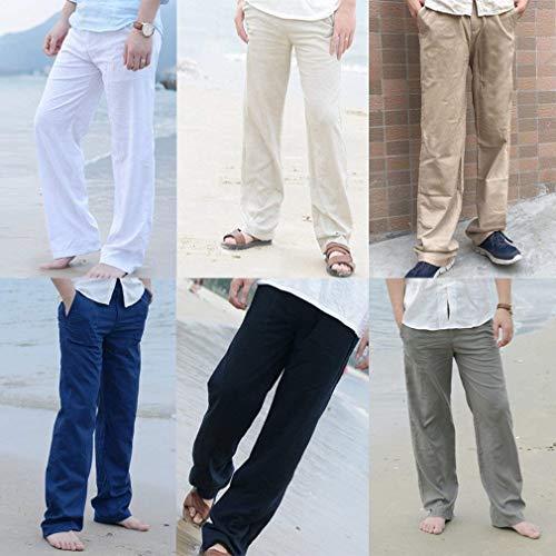Fashion Elasticizzati Casual Da Pantaloni Tinta Tasche Dritti Uomo Abiti Taglie Larghi Hx Khaki Comode Unita Con dSwaXASqn