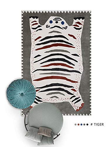 Kevin&Joy Aminal Tiger Cartoon Area Rugs for Boys and Girls Bedroom Decor Rug for Kids and Children Game Carpet for Living Room,Playroom,Classroom,Nursery(Imports from Belgium)