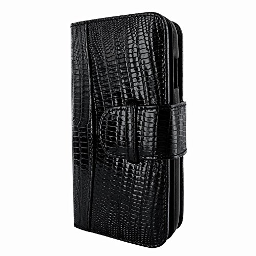 Piel Frama 716 Black Lizard WalletMagnum Leather Case for Apple iPhone 6 / 6S