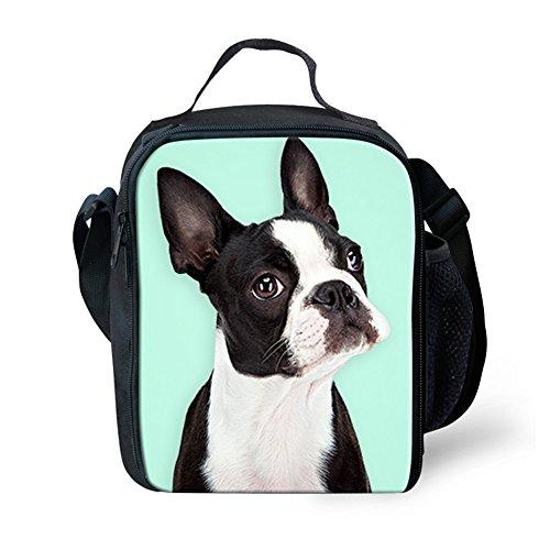 Instantarts Sandwich Lunch Bag Tote Boston Terrier Breed Standard (Boston Terrier Breed Standard)