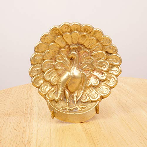 - Restored by UKARETRO Tray/Bowl / Ashtray || Vintage Solid Brass || Peacock Design/Shape || Elevated on 3 Legs
