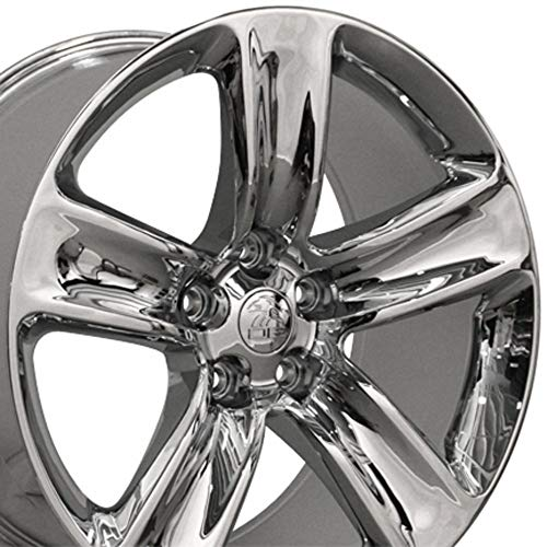 Partsynergy Replacement For New Chrome Rim 20 Inch 2009-2018 Dodge Journey 20x9 5 Spokes 5-127mm