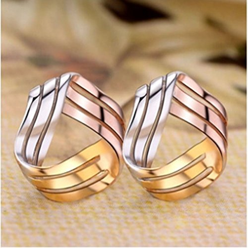 925 Sterling Silver Love Knot Earrings Tricolor 3-Tone Stud Fashion Jewelry for Teens Girls Women by ZLXPRO (Image #5)