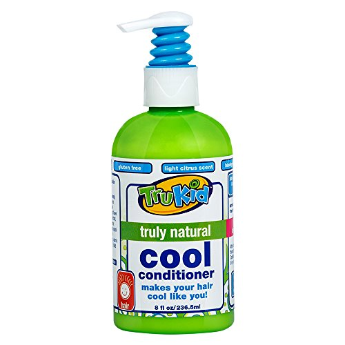 TruKid Cool Conditioner -  Daily Natural Hydrating, Nourishing, and Gentle, Light Citrus Scent, 8 oz