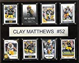 NFL Green Bay Packers Clay Matthews 8-Card Plaque, 12 x 15-Inch, Brown