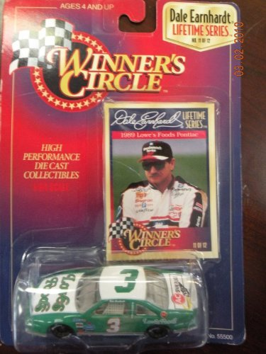 DALE EARNHARDT Lifetime Series * 1989 Lowe's Foods Pontiac 1/64 replica * #11 of 12 High Performance Die CAST Collectible & RARE Limited Trading Card * Green & White family owned vehicle VHTF Dale Earnhardt Diecast Collectibles