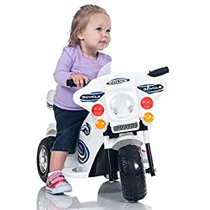 Deluxe Battery Operated Police Three Wheel Motorcycle - Great fro Toddlers!