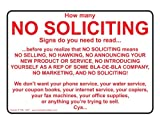 ComplianceSigns Vinyl No Trespassing Label, 7 x 5 in. with English, White