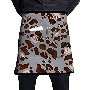 Soft Sweets Candy Durable Cooking Half Kitchen Aprons With Pockets