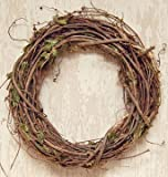 Grapevine Branches Wreath Dried Leaves Country Primitive Décor