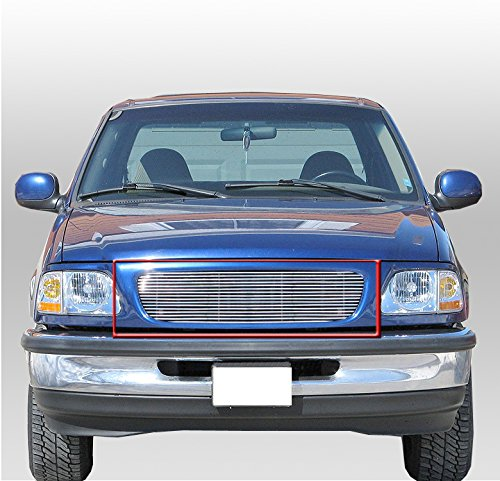 ZMAUTOPARTS Upper Billet Grille Grill Insert For 1997-1998 Ford Expedition/F-150 / F-250 Light - Ford Billet F150 1998 1997