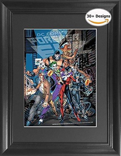 Forever Evil Batman Villains: Joker, Harley Quinn, Two Face, Catwoman, Scarecrow & Bane Framed DC Comics 3D Lenticular Poster - 14.5x18.5