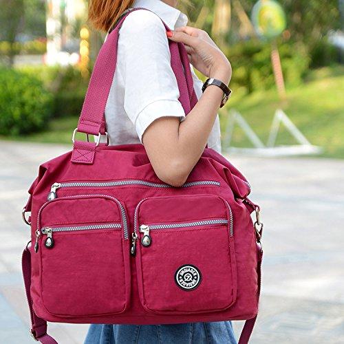 Porté Violet Imperméable Main Bag Sac de de Femme épaule Sac Sac Voyage Bourse bandoulière Sacoche Besace Sac pour école Sac Outreo Cours Sport à Cabas 4ZxwRSqxXE