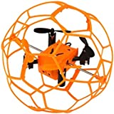 Owill Helic Max Sky Walker 1340 2.4GHz 4CH Fly RC Quadcopter With Protective Frame (Orange)