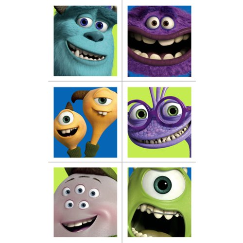 Hallmark Monsters Inc. Stickers (4 Sheets) (Monsters Inc Logo Sticker)