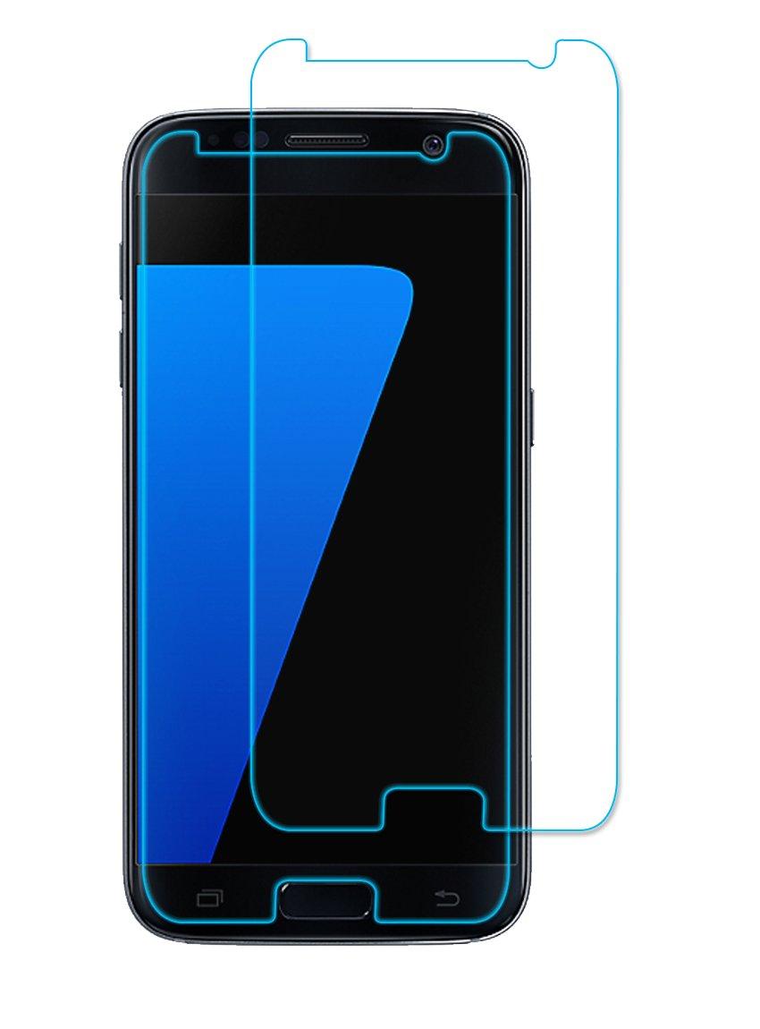Samsung Galaxy S7 Protection Verre Trempé, Elzo 0.26mm 9H Dureté Screen Protector Compatible 3D Touch, Anti-empreintes et Résistant aux Rayures Tecnology écran Protecteur Vitre (5.1 inches) (2 Pack) 81SP-2PSGS7-1TE