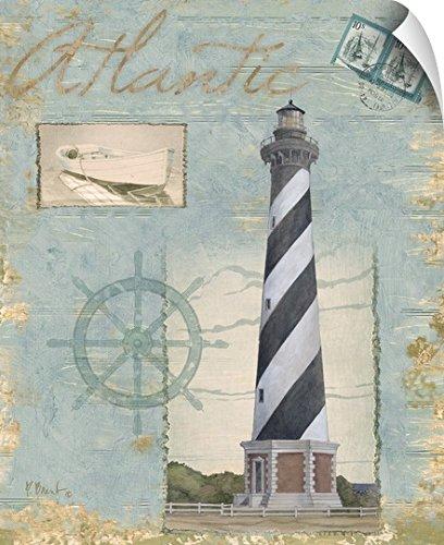 Paul Brent Wall Peel Wall Art Print Entitled Seacoast Lighthouse I