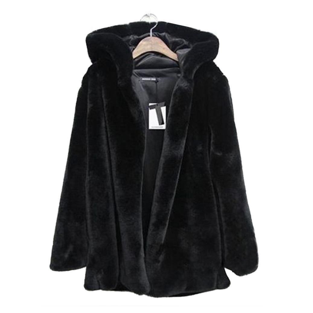 Internet Abrigo de piel sintética cálido para mujer New Ladies Chaqueta de invierno Parka Outerwear: Amazon.es: Ropa y accesorios