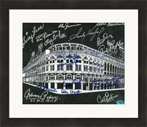 Ebbets Field autographed 8x10 photo Brooklyn Dodgers signed by 18 Duke Snider Sandy Koufax Don Newcombe Podres Gionfriddo Loes Zimmer Matted & Framed (Signed Framed Koufax Sandy)