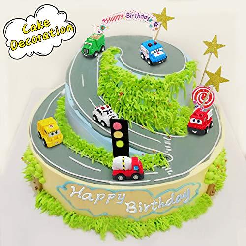 Mini Toy Cars Push Pull Back Car Play Set Construction Vehicles Race Trucks For 2 3
