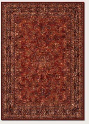Couristan 1726/3200 Old World Classics Antique Kashan Area Rugs, 9-Feet 10-Inch by 13-Feet 9-Inch, Burgundy