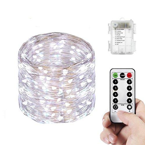 Yenl 66 LED Mini Battery String Lights, 16 Feet, Cool White