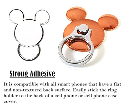 Cell Phone Tether Neck Strap Holder Ring Stent Kickstand for iPhone 5 6 6S 7 8 8 Plus Galaxy S7 and Other Mobile Phones AccessoryHappy Mickey Ear 2 in 1 Phone Lanyard /& Ring Stent