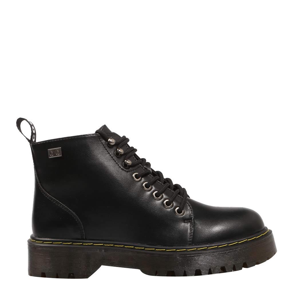 COOLWAY Cassie Botin Militar BLK Schwarze Stiefel für Frauen