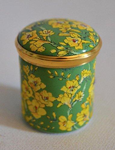 Halcyon Days Bilston and Battersea English Enamels Yellow Flowers Trinket - Days Boxes Halcyon