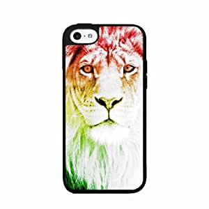 linJUN FENGTrippy Lion Plastic Phone Case Back Cover iPhone 5 5s
