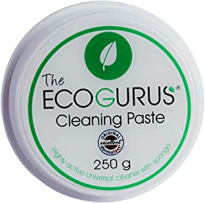 Natural Cleaning Paste with Sponge! - Eco all Purpose Cleaner - Environmentally & Eco Friendly Multi-Purpose & All Surface!! - Clean Your Kitchen, Bathroom, Limescale, Trainers, Garden, Furniture etc.