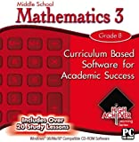 Includes Over 20 Study LessonsProduct InformationHigh Achiever Middle School Mathematics 3 is curriculum based software foracademic success.  Covers topics commonly taught in 8th grade math. It isalso suitable for high school students and adu...