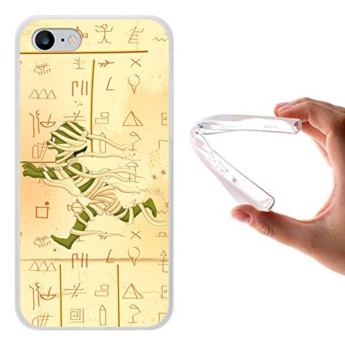 WoowCase Hülle Case für [ iPhone 7 ] Handy Cover Schutzhülle Laufende Ägiptische Mumie