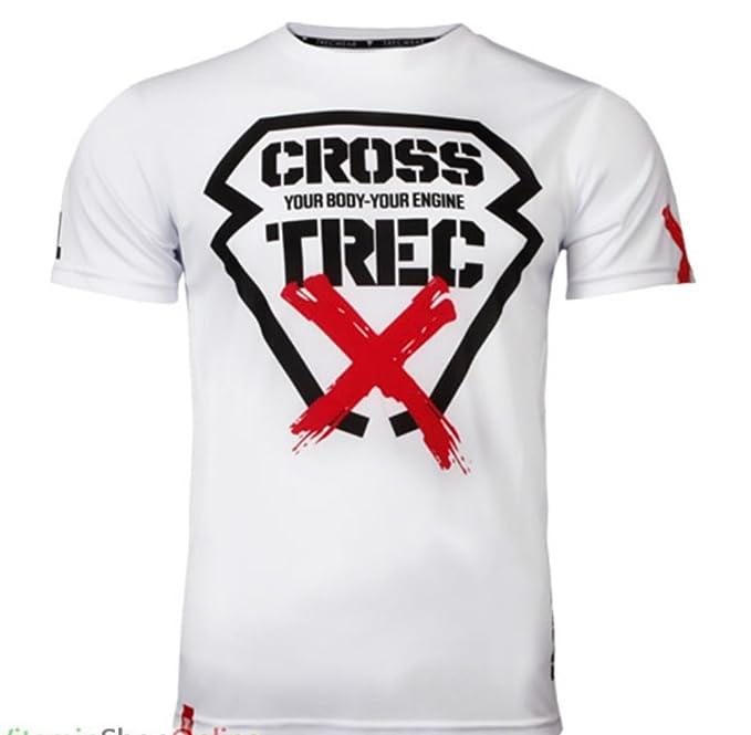 TW T-Shirt CoolTrec 011 White CROSS Camiseta Blanca Cruz crossfit talla M: Amazon.es: Ropa y accesorios