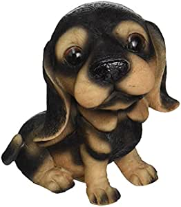 Design Toscano Prized Pup Rottweiler Puppy Dog Statue, Multicolored