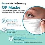 EUMEPRO-Weie-OP-Maske-Typ-IIR-Pure-Made-in-Germany-50-Stck-DIN-EN-14683-Typ-IIR-zertifiziert-999-Bakterielle-Filtrations-Effizienz-I-Chirurgische-Einweg-Masken-als-Mund-Nasen-Schutz