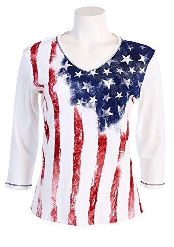 Jess-N-Jane-Old-Glory-Dressy-Ladies-Rhinestone-Cotton-T-Shirt-White