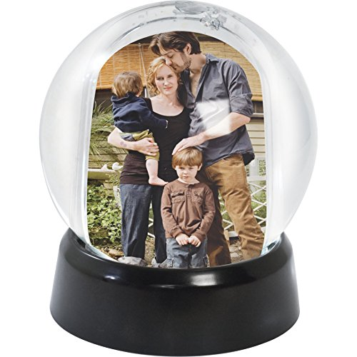 Mini Photo Snow Globe (Black Base) Picture Of Snow