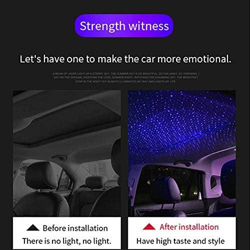 Nachtlicht LED verbesserte USB-Atmosph/äre Ambient-Stern-Projektor romantische dekorative Beleuchtung MCUILEE LED-Autodach-Sternlicht Decke Auto-Innenraum