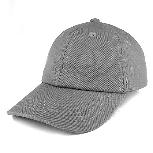 Baby Infant Plain Unstructured Adjustable Baseball Cap - Grey ()