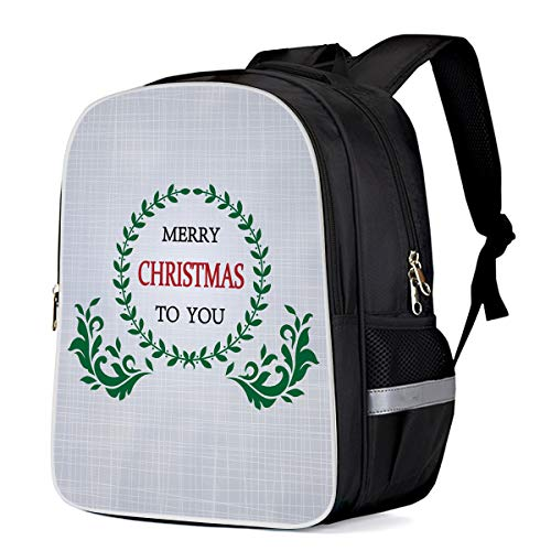 - T&H Home Travel Backpack Durable Student Bookbag Merry Christmas Olive Floral Ornament Classic Rucksack Picasso Redirect Bag