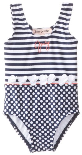 Juicy Couture Baby Baby-Girls Newborn Swimsuit, Regal Gingham, 3-6 Months