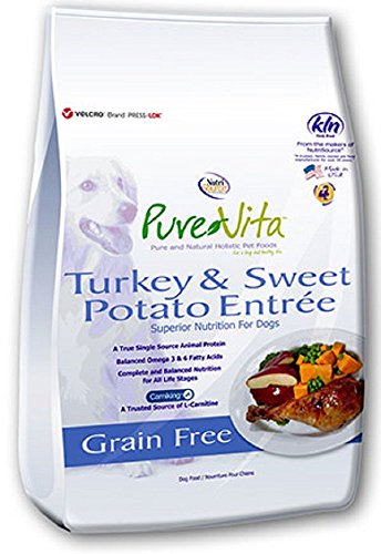 PureVita Grain Free Turkey Sweet Potato Dry Dog Food – 25lb