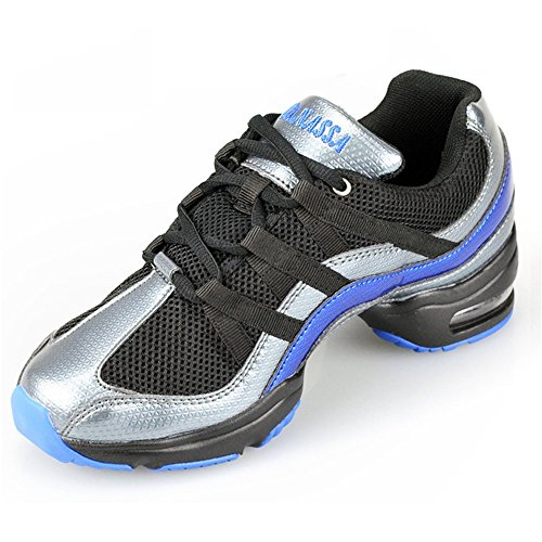 Dance Blue Fitness Women WENDYWU Sneakers Breathable Shoes Jazz Modern Sports fZ7qt