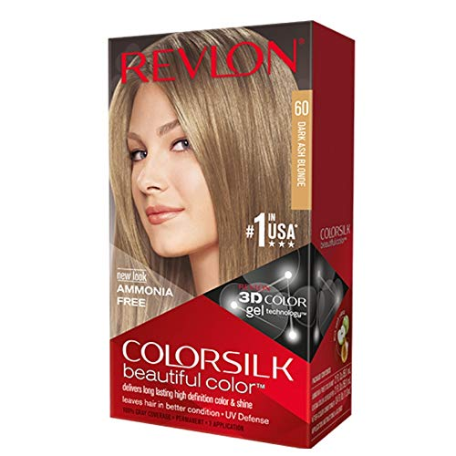 Revlon Colorsilk Beautiful Haircolor Ammonia-free Permanent Haircolor (#60 Dark Ash Blonde), 1 Count (Pack of 12)