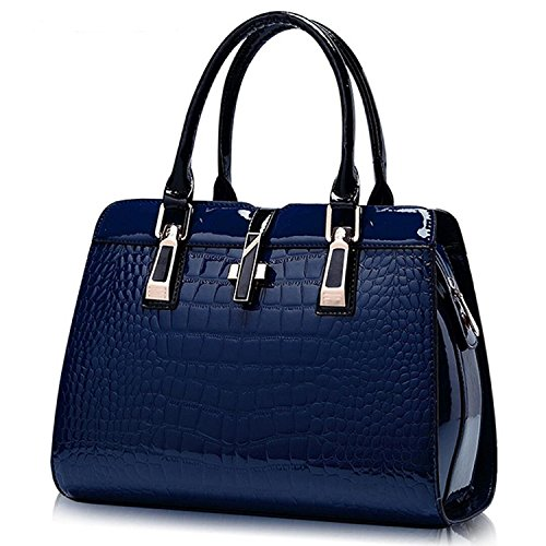 Shoulder Leather Cross Top Blue Crocodile Pattern Handbags Handle Women��s body Bags Tote Purse 0YwqUHUv